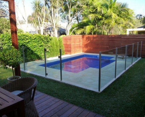 semi frameless glass fence Warriewood