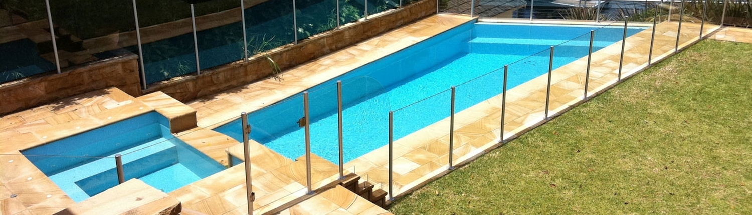 semi frameless pool fence - Hunters Hill