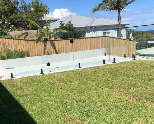 Curl Curl Black Satin Hardware On Fully Frameless Glass Word Of Mouth Fencing